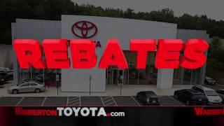 Warrenton Toyota | Summer Blockbuster: HUGE Rebates on New 2018s!