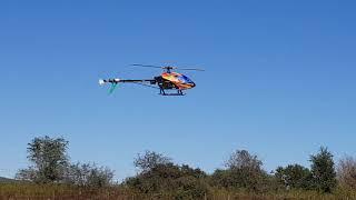 Dani Cuadra volando Tiro Federal CBA T-Rex 500 DFC 6s 3300mah con  Spektrum DX8