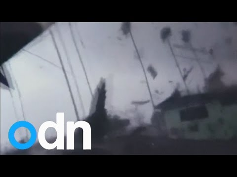 Unusual tornado touches down in Los Angeles