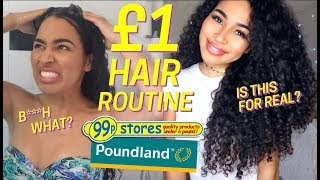 ONE POUND HAIR PRODUCTS DID THIS!! DOLLAR STORE CURLY HAIR CARE CHALLENGE - Lana Summer