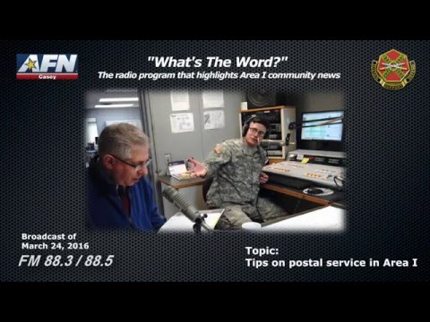 """""""WHAT'S THE WORD?"""" - The radio program that highlights news of the Area I community in Korea."""