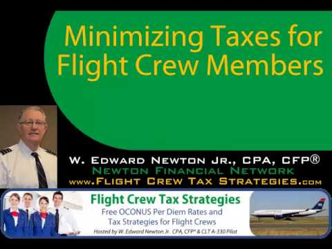 Minimizing Taxes for Flight Crew Members by Ed Newton, CPA