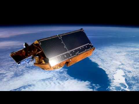 ESA's Cryosat Satellite Flying Over Greenland