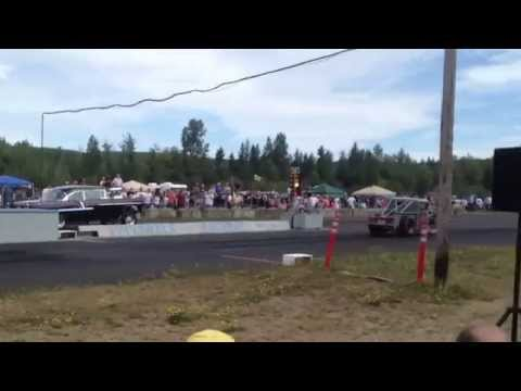 55' CHEVY VS. 34' FORD PICKUP BILLETPROOF ERUPTION DRAGS TOUTLE, WA 2013