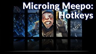 Microing Meepo With Hotkeys | How To Play Dota 2 | PVGNA.com