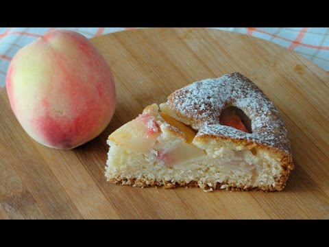 Пирог с персиками - очень простой рецепт