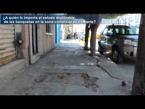 Estado de pobreza muestran las banquetas de El Mante...