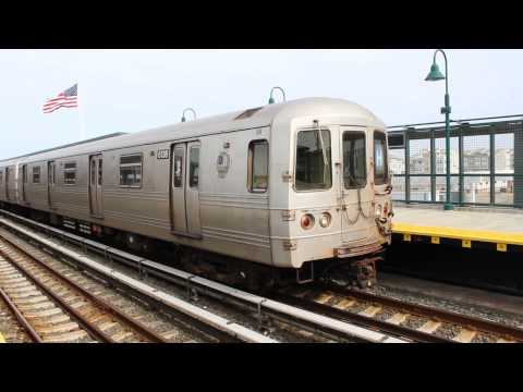 MTA NYC Subway : R46 (H) Trains at Beach 67th Street