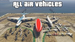 GTA 5 - All Planes & Helicopters (after Gunrunning update)