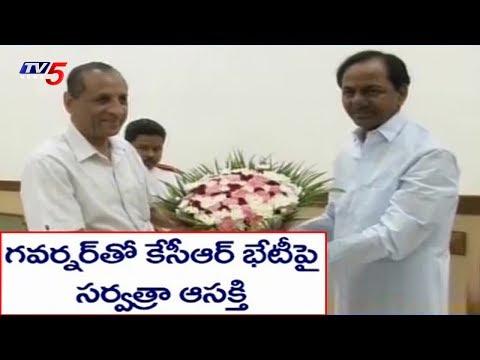 ఆసక్తి రేపుతున్న కేసీఆర్-గవర్నర్ భేటీ..! |  CM KCR Meets Governor Narasimhan | TV5 News