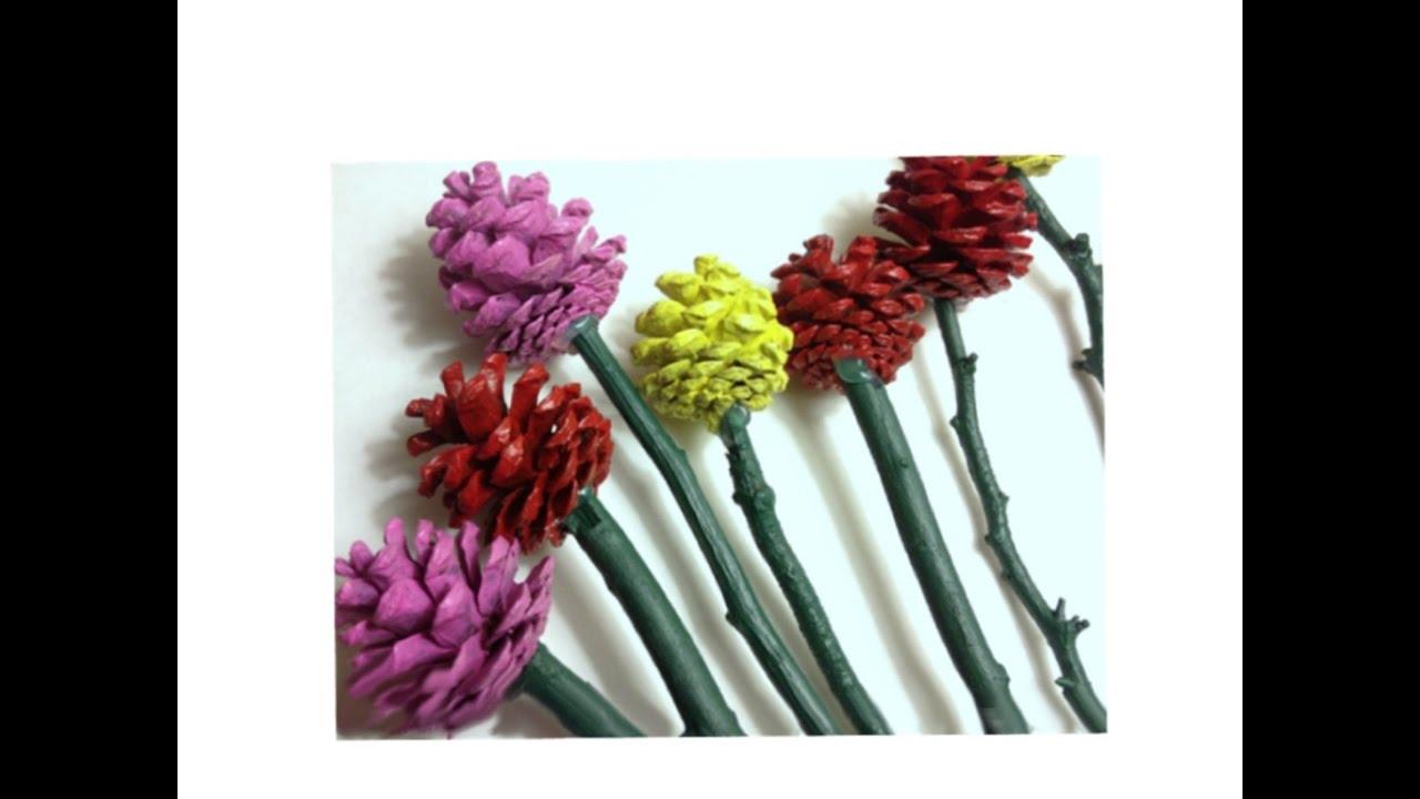 Как сделать поделку цветы из природных материалов 48