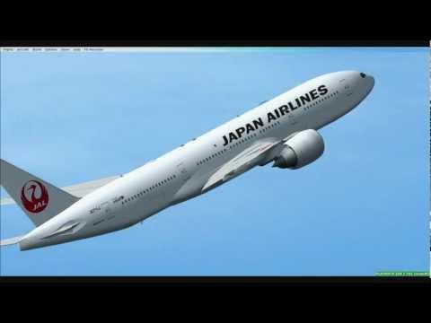 Видео: Flight Simulator X Episode 4-Japan Airlines Boeing 777-200 @Narita.