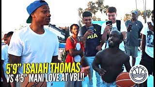 5'9 Isaiah Thomas vs 4'5 Mani Love For $500 at VBL!!! WHO YOU GOT!?