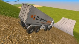High Speed Crash Compilation 44 - Down Hill Jumps - BeamNG.Drive Car Accident