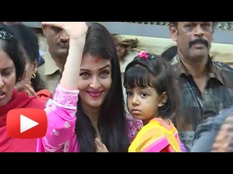 (VIDEO) Aishwarya Rai Bachchan with Aaradhya At Siddhivinayak Temple