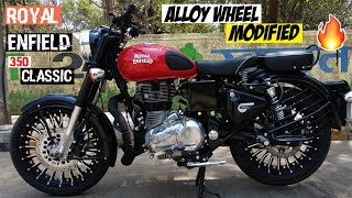 Royal Enfield Accessories | Royal Enfield 350 classic modified | Best Royal Enfield Alloy wheel