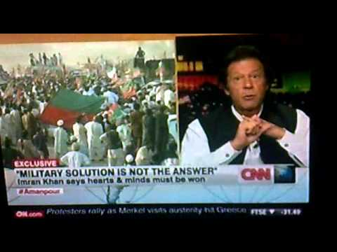 Imran Khan with Amanpour (CNN) 10-10-2012