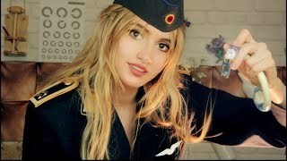 ASMR - MEDICAL EXAM by a military AIR FORCE girl ♥ the test to become a PILOT