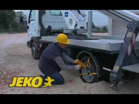 tire chain installation