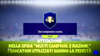 FIFA 18 - SFIDA CREAZIONE ROSA - (BASI CAMPIONATO E NAZIONALE) - SQUAD BUILDING CHALLENGES