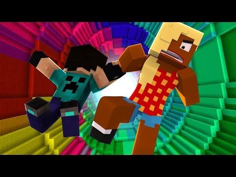 Minecraft : The Dropper #2 A CLOTILDE DEU RAGE !!!