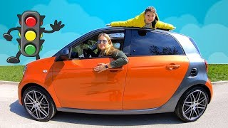 Kids Learn About Safety Tips on the Road | Timko and Mommy ride on Car