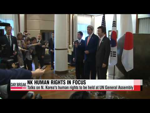 Talks on N. Korea′s human rights to be held at UN General Assembly   북한 인권 관련 고위