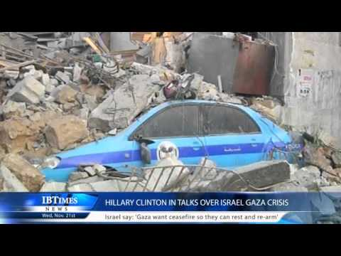 Hillary Clinton in talks over Israel Gaza crisis