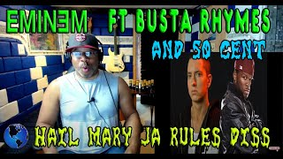 50 Cent Ft. Eminem & Busta Rhymes  Hail Mary Classic Ja Rule Inc Diss HQ - Producer Reaction