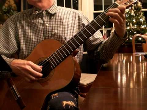 God Rest Ye Merry Gentlemen. christmas guitar (Charlie Byrd arrangement)