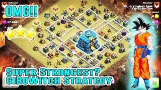 OMG!! SUPER STRONGEST ATTACK GIBOWITCH DESTROY TH12 3-STAR ( Easy Strategy in Clash of Clans )