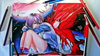 Speed Drawing - Touka Kirishima | Collab ( Tokyo Ghoul )