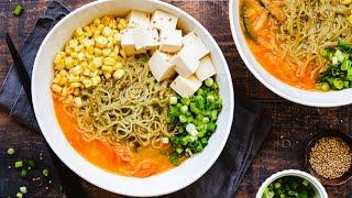 Homemade Ramen | Easy Vegetarian Ramen Recipe!!!