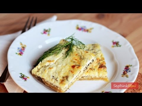 Kapros-trs lepny vide recept (Dill & Cottage Cheese Pie)