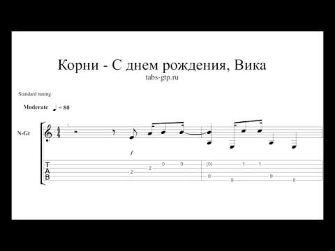 Аккорды к песне с днем рождения вика