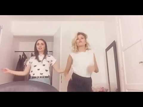 Carolina Kopelioff y Valentina Zenere bailando en los camerinos !