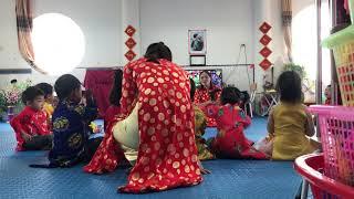 Khám phá chợ quê ngày tết trẻ 3-4 tuổi