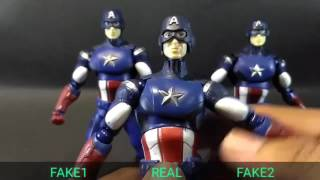 [NgoBar] Comparison Figma Captain America Real vs Bootleg2
