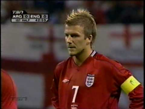 David Beckham — World Cup 2002, PK against Argentina