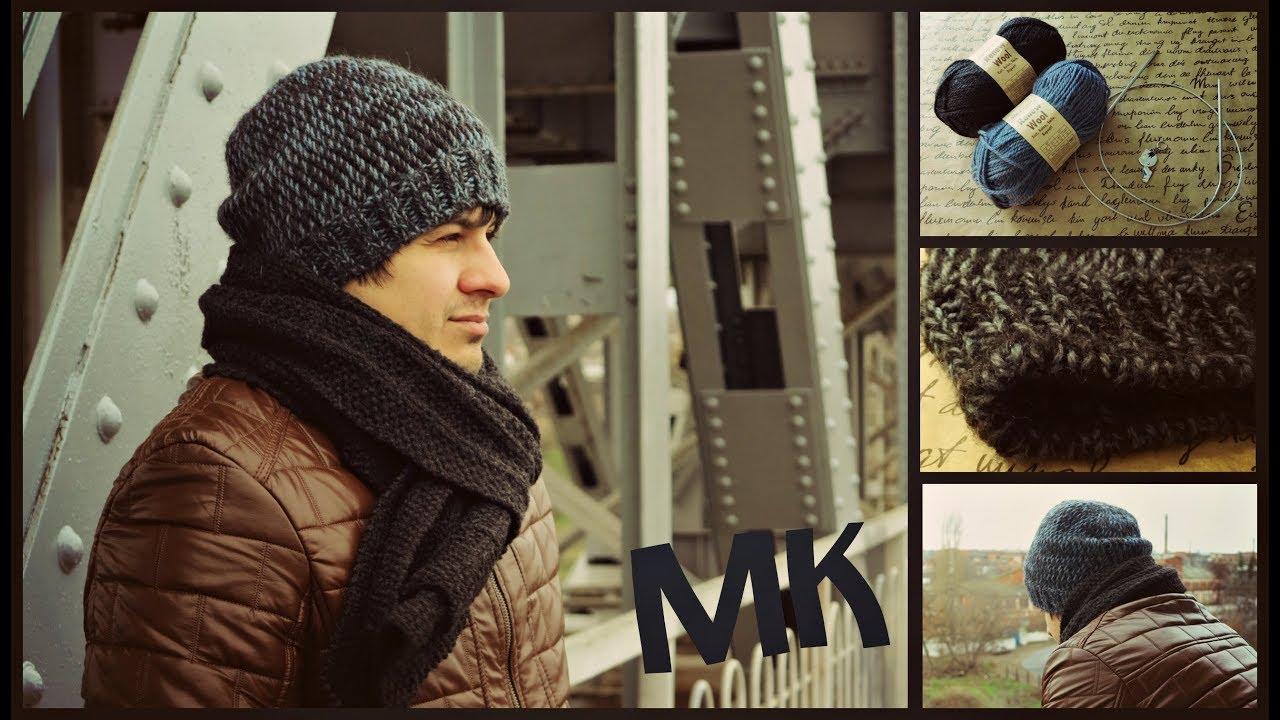 Видеоуроки вязание мужских шапок 21