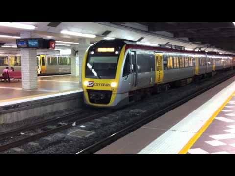 Some of the trains in Brisbane my son loves to watch.