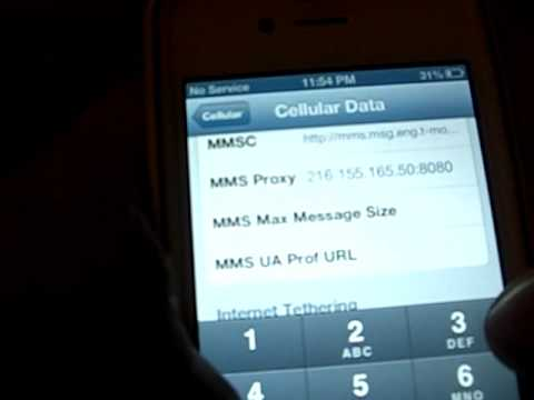 ANY UNLOCKED IPhone MMS fix FOR T-MOBILE on