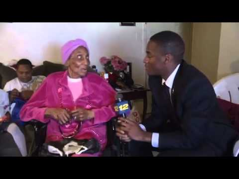 100 Year Old Great Grandmother Talks Dicks with Reporter1)