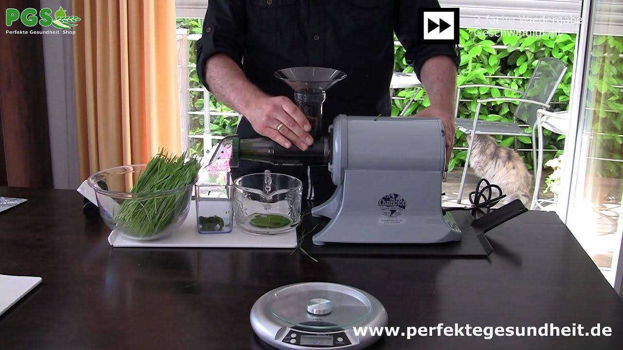 Champion Entsafter WeizengrasKit  Top oder Flop?  YouTube ~ Entsafter Topf