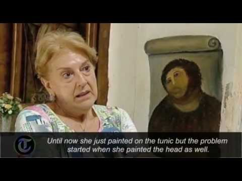 Spanish pensioner destroys fresco with botched restoration