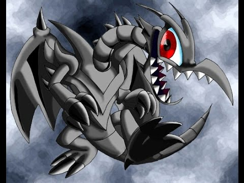 Toon red eyes black dragon