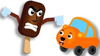 Gummy Bear Cars Vs Monster Ice Candy Finger Family Rhyme For Kids | Eat Big Ice Candy