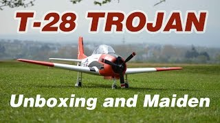 Eleven Hobby T-28 Trojan Unboxing and Maiden flight