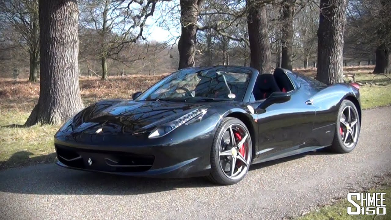 Ferrari 458 Spider - Fast Ride, Startups and Revs - YouTube