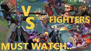 Terizla VS all Fighters Dyrus Alucard Zilong Martis Chou Lapu Lapu Ruby Roger Aldous Bane | ml